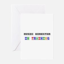 Music Director In Training Greeting Cards (Pk of 1