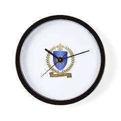 HEBERT Family Crest Wall Clock