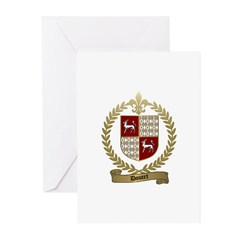 DOUCET Family Crest Greeting Cards (Pk of 10)