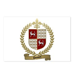 DOUCET Family Crest Postcards (Package of 8)