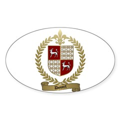DOUCET Family Crest Oval Decal