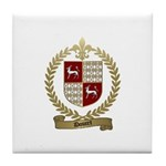 DOUCET Family Crest Tile Coaster
