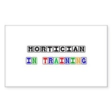 Mortician In Training Rectangle Decal