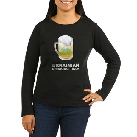 Ukrainian Drinking Team Women's Long Sleeve Dark T