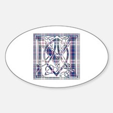 Monogram-MacFarlane dress Sticker (Oval)