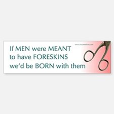 """""""If men were meant..."""" bumperticker"""