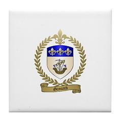 GIROUARD Family Crest Tile Coaster