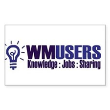 The Official wMUsers Rectangle Decal