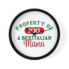 Hot Italian Mama Wall Clock