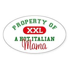 Hot Italian Mama Oval Decal