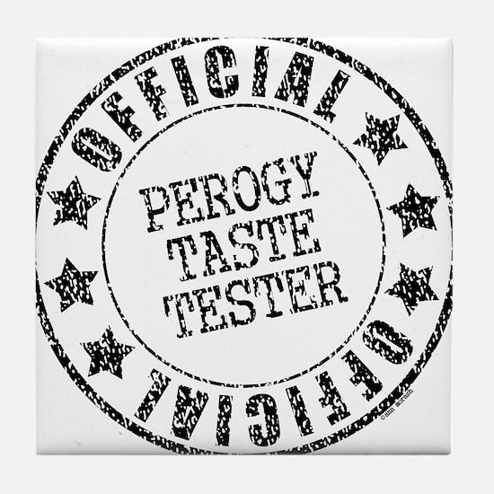 Perogy Tester Tile Coaster