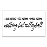 Nothing but Volleyball Rectangle Sticker 10 pk)