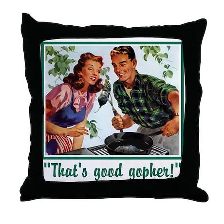 Good Gopher Throw Pillow
