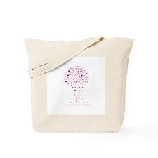 Breast Cancer Awareness Pink Ribbon Tree Tote Bag