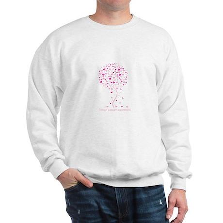 Breast Cancer Awareness Pink Ribbon Tree Sweatshir