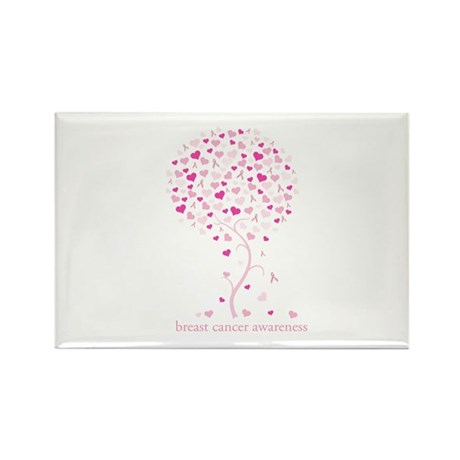Breast Cancer Awareness Pink Ribbon Tree Rectangle