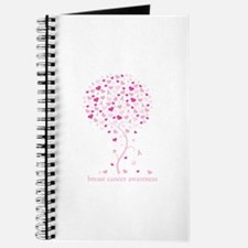 Breast Cancer Awareness Pink Ribbon Tree Journal