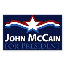 John McCain for President Rectangle Decal