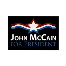 John McCain for President Rectangle Magnet
