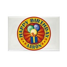 Happy Birthday Aaron Personalized Rectangle Magnet