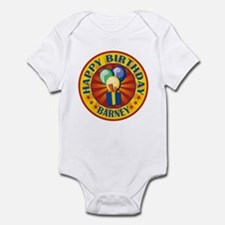 Happy Birthday Barney Personalized Infant Bodysuit