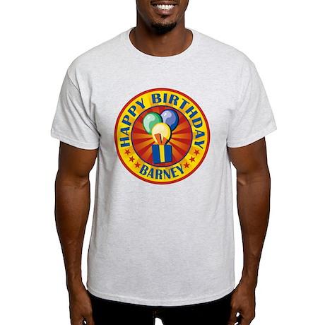 Happy Birthday Barney Personalized Light T-Shirt
