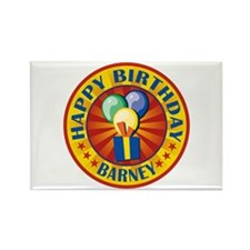 Happy Birthday Barney Personalized Rectangle Magne