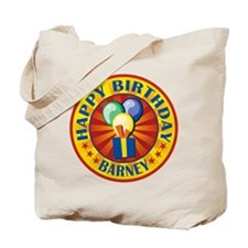 Happy Birthday Barney Personalized Tote Bag