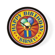 Happy Birthday Barney Personalized Wall Clock