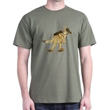 Dino Mask - old paper T-Shirt