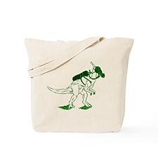 Dino Mask - green Tote Bag
