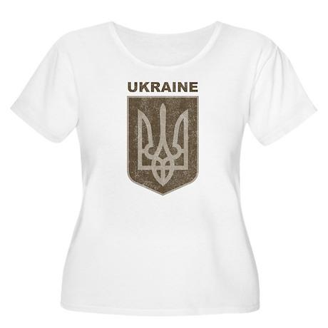 Vintage Ukraine Women's Plus Size Scoop Neck T-Shi