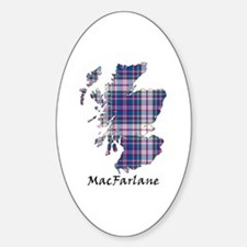 Map-MacFarlane dress Sticker (Oval)