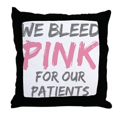 Pink Breast Cancer Patient Throw Pillow