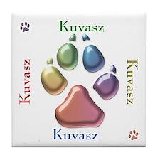 Kuvasz Name2 Tile Coaster