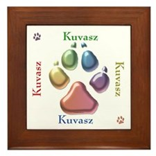 Kuvasz Name2 Framed Tile