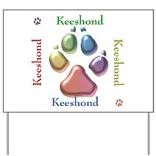 Keeshond Name2 Yard Sign