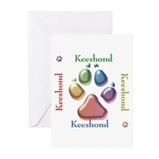 Keeshond Name2 Greeting Cards (Pk of 10)