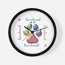 Keeshond Name2 Wall Clock
