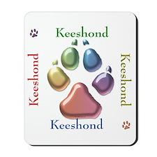 Keeshond Name2 Mousepad