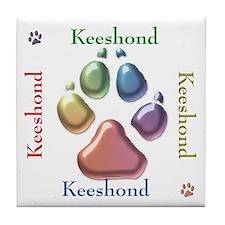Keeshond Name2 Tile Coaster