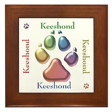 Keeshond Name2 Framed Tile