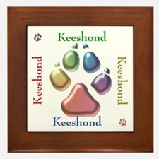 Keeshond Name2 Framed Tile