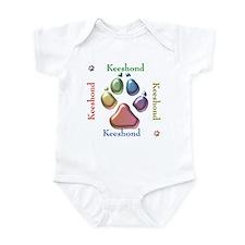 Keeshond Name2 Infant Bodysuit