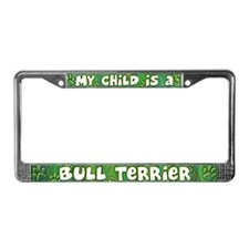 My Kid Bull Terrier License Plate Frame
