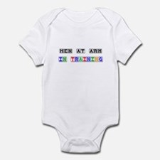 Men At Arm In Training Infant Bodysuit