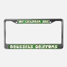 My Children Brussels Griffon License Plate Frame