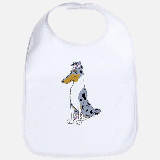 Smooth Blue Merle Collie Bib