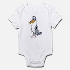 Smooth Blue Merle Collie Infant Bodysuit