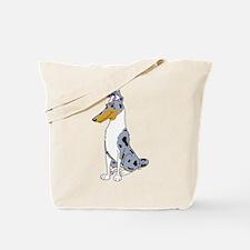Smooth Blue Merle Collie Tote Bag